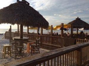 An evening sunset on Bradenton Beach restaurant on Anna Maria Island