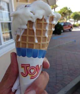 ice cream cone on Anna Maria Island in February..